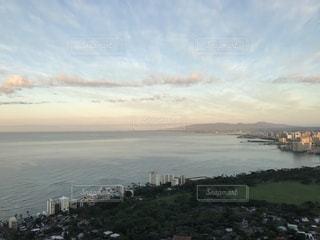 風景,アメリカ,観光,旅行,ハワイ,日の出,ダイヤモンドヘッド