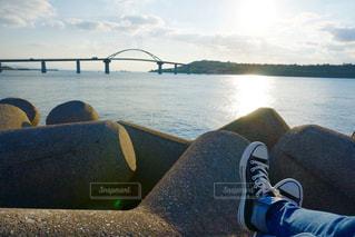 瀬底大橋の写真・画像素材[1014557]