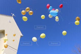 赤と黄色のボールの写真・画像素材[1246326]