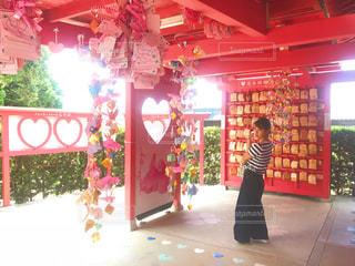 女性,ピンク,神社,恋,お守り,pink,genic,恋木神社