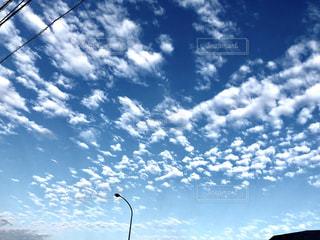 秋,白,雲,青,景色,白い,外,秋空,白い雲,秋の空,鱗雲