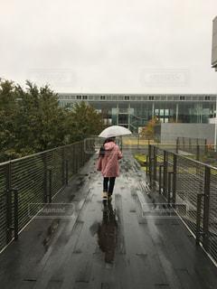 雨の中の散歩の写真・画像素材[851483]