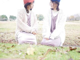 芝生と紅葉 - No.784767