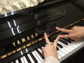 ピアノを持っている手の写真・画像素材[752983]