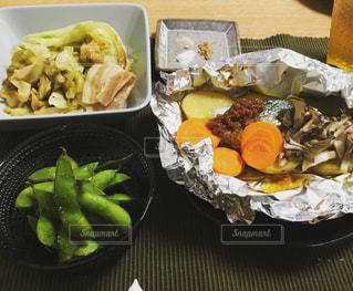 たまには和食!秋鮭のホイル焼き!の写真・画像素材[771661]