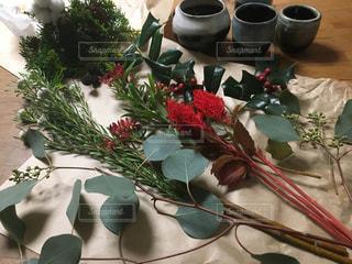 花,フラワーアレンジメント,クリスマス,手作り,和食器,クリスマス準備,クリスマスまであと少し,好きな花だけ