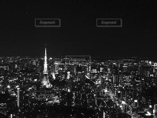 夜の大群衆の写真・画像素材[820125]