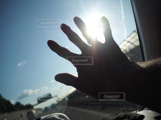 太陽,手,指輪,パー,ジェスチャー,血潮