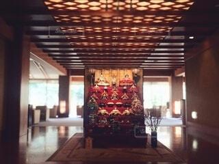 ホテルのロビーにある雛人形の写真・画像素材[4212976]