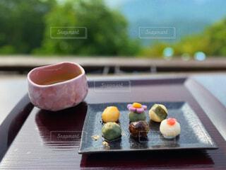 和菓子の盛り合わせの写真・画像素材[4539747]