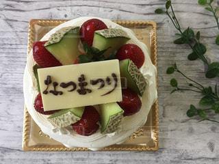 夏,ケーキ,メッセージ,日本語,なつまつり