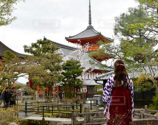 春,桜,清水寺,京都,観光,五重塔,着物,浴衣,ハイカラさん