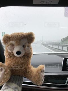 雨,雨上がり,梅雨,デート,ドライブ,ダッフィ