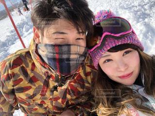 恋人,冬,カップル,雪,人物,ニット帽,スキー,デート,岐阜,ウィンタースポーツ,ボード,高鷲スノーパーク