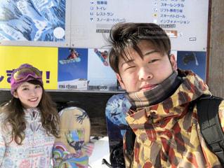 女性,恋人,冬,カップル,雪,人物,ニット帽,スキー,デート,岐阜,ウィンタースポーツ,ボード,高鷲スノーパーク