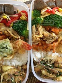 ランチ,弁当,天ぷら,えび,ふたつ