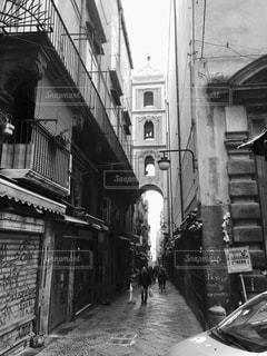 通りの黒と白の写真 - No.825897
