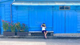 青い家🏠の写真・画像素材[774521]