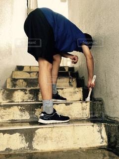 階段掃除の写真・画像素材[821347]