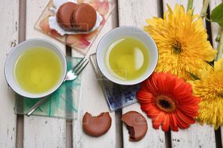 お茶でリラックス④の写真・画像素材[1058467]