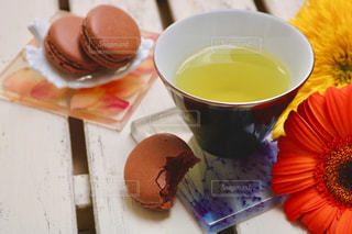 お茶でリラックス⑤の写真・画像素材[1058470]