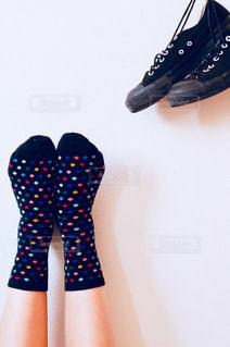 水玉靴下②の写真・画像素材[1076073]