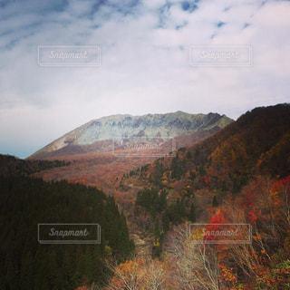 秋の大山の写真・画像素材[1598494]