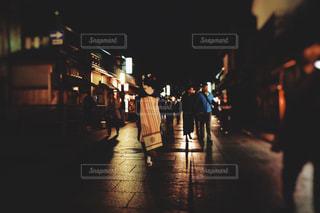 祇園の夜の写真・画像素材[1666389]
