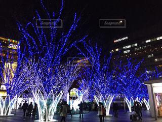 博多駅前のイルミネーションの写真・画像素材[1680858]