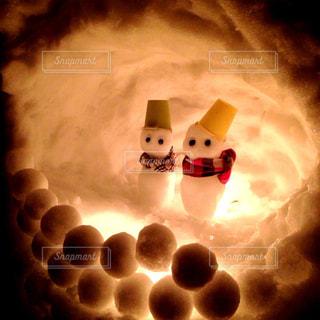 雪だるまの冬の写真・画像素材[857623]