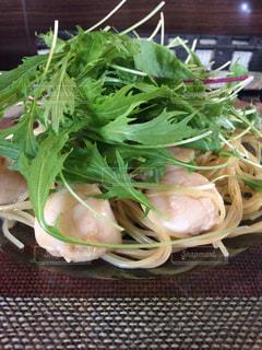 ランチ,パスタ,MIRE,海鮮パスタ,帆立と水菜