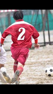 サッカーのゲームの若い男性のグループの写真・画像素材[813886]