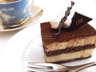 皿にチョコレート ケーキ - No.805264