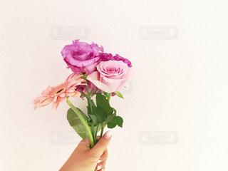 ピンクの花で一杯の花瓶 - No.843760