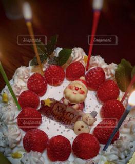 手作りクリスマスケーキの写真・画像素材[952088]