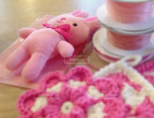 ピンク,かわいい,プレゼント,リボン,マスコット,ラッピング,アクリルたわし