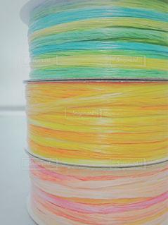 ピンク,カラフル,オレンジ,リボン,ブルー,グラデーション,整列,ソフト,並べる,重ねる,積む,多色,薄色