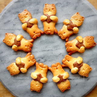 ネコのクッキーの写真・画像素材[1048777]
