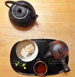 お茶とお菓子の写真・画像素材[1057845]