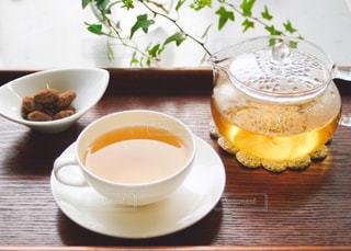 ほうじ茶とお菓子の写真・画像素材[1057876]