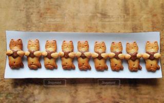 猫,食べ物,スイーツ,皿,ハート,洋菓子,お菓子,クッキー,ハンドメイド,手作り,並ぶ,複数,ネコ,九谷焼,9