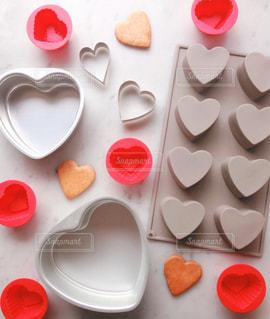 食べ物,ピンク,かわいい,ハート,洋菓子,お菓子,クッキー,大理石,型抜き,多数,型,配置,ケーキ型,シリコン型,ハートクッキー