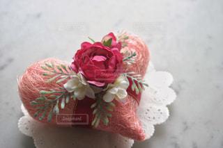 ピンク,かわいい,バラ,ハート,リボン,装飾,♡,飾り,造花,アレンジメント,フェイク,布花,レースペーパー