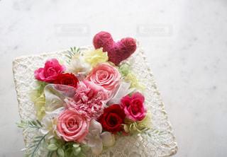 ピンク,かわいい,カラフル,バラ,プレゼント,ハート,リボン,装飾,カーネーション,母の日,♡,飾り,ギフト,アレンジメント,プリザーブドフラワー,MOTHER'S DAY