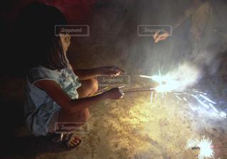 花火のマナーの写真・画像素材[1273960]