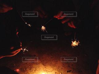 線香花火の写真・画像素材[1273972]