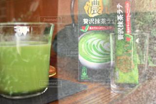 濃い贅沢抹茶ラテの写真・画像素材[1306016]