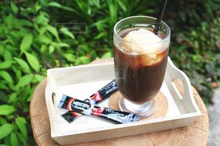 ネスカフェエクセラでコーヒーフロートの写真・画像素材[1307955]