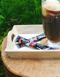 ネスカフェエクセラでコーヒーフロートの写真・画像素材[1308003]