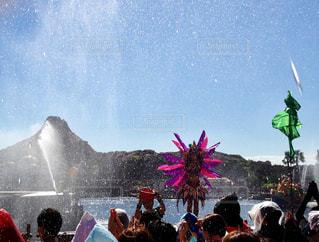 夏,晴れ,青空,水しぶき,人,夏休み,ディズニーシー,ショー,水浴び,東京ディズニーシー,複数,放水,楽しむ,メディテレーニアンハーバー,びしょ濡れ,トロピカル・スプラッシュ
